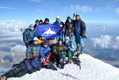 Альпклуб МАИ на вершине Эльбруса
